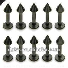 Custom labret piercing stud titanium labret jóias