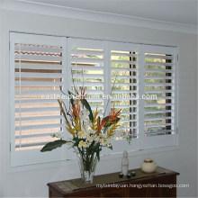 Wholesale Interior 89mm wood plantation shutters tier on tie