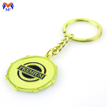 Metal round personalized gold your keychain charms