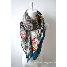100% Digital Printed Refined Merino Wool Scarf