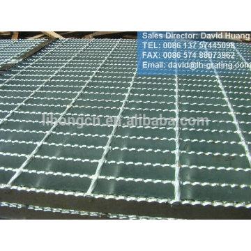 Plancher en acier galvanisé, grille de plancher en acier galvanisé, grille en acier serti galvanisé