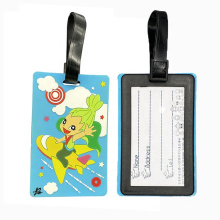 3D Soft Pvc Tag Rubber Personalized Travel Luggage Tag