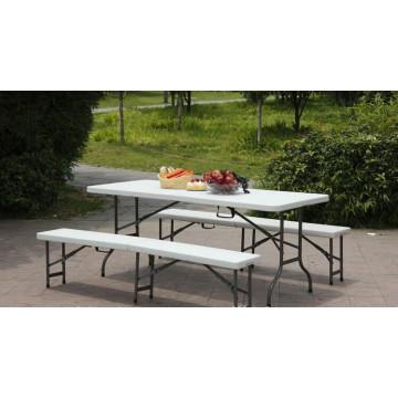 Gebrauchte Plastic Folding Half Bench in 183 * 30 * 43cm für Park, Garten, Outdoor