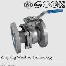 2PC a bridé la vanne à tournant sphérique d'acier inoxydable avec le support de montage direct