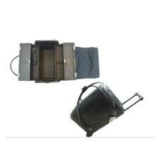 Maquillaje de cuero portátil maletas caja de la vanidad cosmética