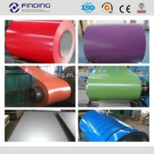 bobina de aço revestida de alta qualidade ce padrão ppgi prepainted cor
