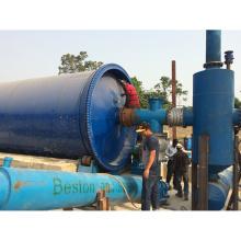 La Chine a fait l'usine de pyrolyse en plastique de déchets d'usine d'huile de pneu de rebut de rendement élevé d'huile avec la certification de la CE et d'OIN
