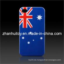 Fahne glatte Plastikharte Haut-Kasten-Abdeckung für iPhone (AU)
