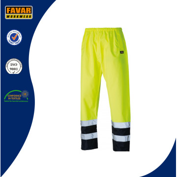 Hi Vis Fluorescent Naranja / Amarillo Pantalones Impermeables Workwear