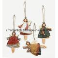Presentes Xmas Hanging Angel, Decoração Christmas Ornament