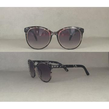 Mode Katze Auge Sonnenbrille für Damen mit Dekoration P25050