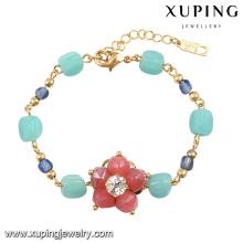 74587 le plus nouveau mode fleur coloré perle bijoux Bracelet en plaqué or 18 carats