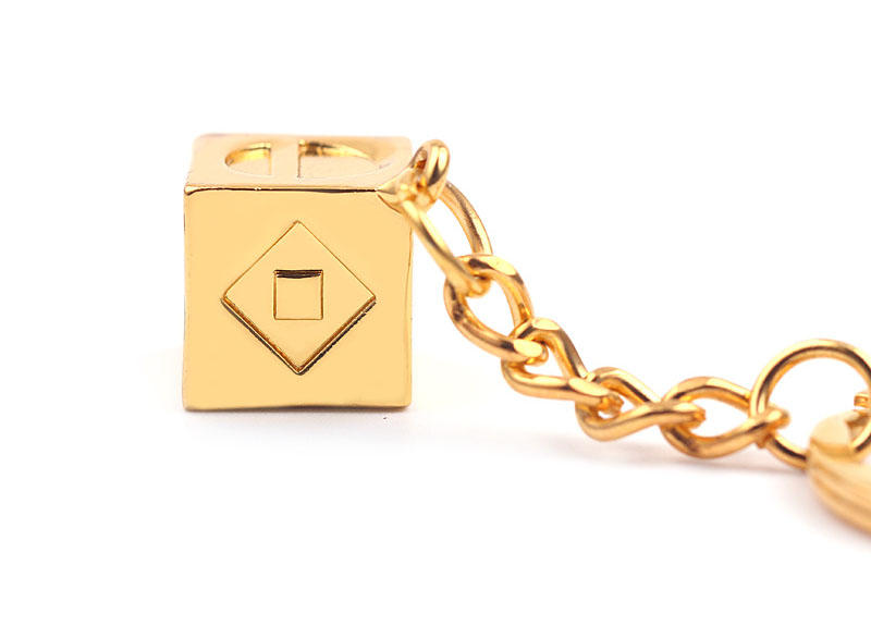 gold plated keychain