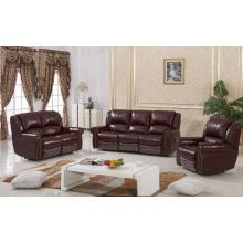 High Quality Dark Brown Color Leather Recliner Sofa (D1020)