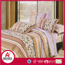 PVC bag package comfortable latest bed sheet designs,check and colorful pretty bedspread