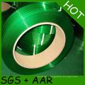 Courroie en plastique de cerclage vert d'animal familier de haute tension