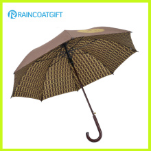 Pare-brise à manches en bois Adversement Straight Custom Hazance Golf Umbrella 8ribs