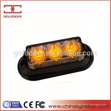 Cubierta parrilla luces ámbar LED de luz estroboscópica 12V (SL623)