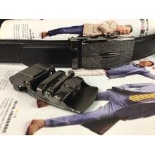 Black Leather Ratchet Belts for Men (RF-160806)