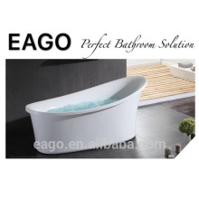 EAGO Baignoire à bulles acrylique ovale classique autoportante GFK17001