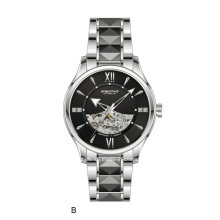 Hochwertige automatische Schmucksache-Skeleton Männer Armbanduhr