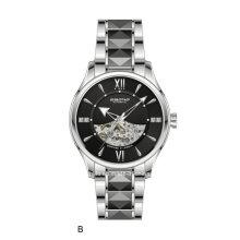 De alta calidad automática joyas esqueleto hombres reloj de pulsera