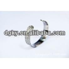 Estrelas aço inoxidável cirúrgico não tóxicos abertura bracelete