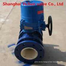 Wcb Lining Ceramic Electric Flanged Ball Valve