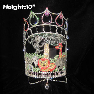 Jungle Animal Light Up Pageant Crowns With Dangles