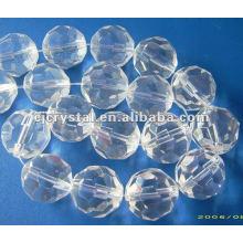Perlas de cristal claras, cuentas de vidrio para araña, cuentas de bola de cristal