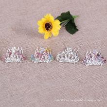 Peine cristalino de la tiara de los cabritos Peines al por mayor del Rhinestone