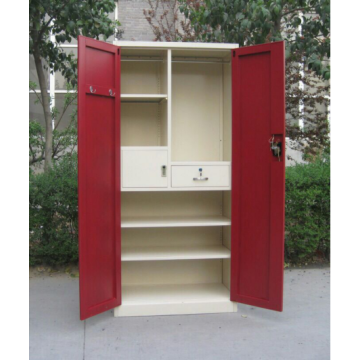 Red Swing Door Metal Garderob