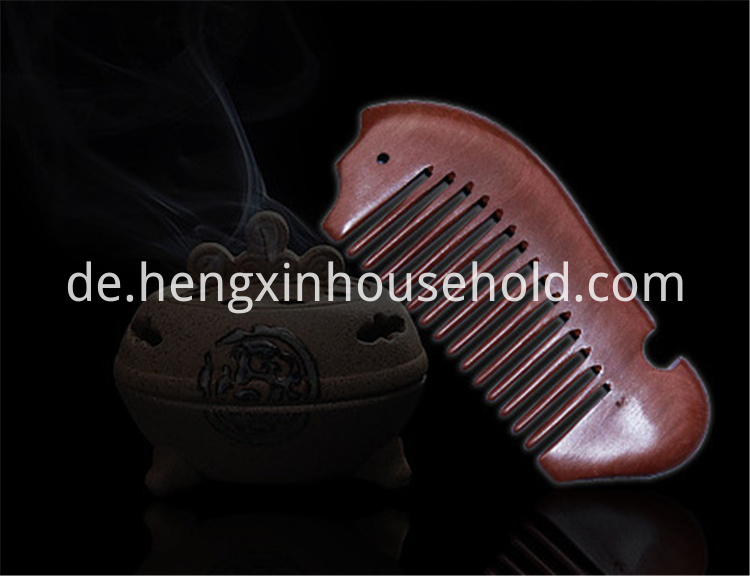 Fish Shape Wood Pocket Comb