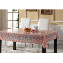 Vinyl Table Cloth Plastic Transparent PVC Printed Transparent Tablecloth