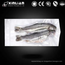 Bolsa de empaque de pescado congelado de sellado térmico