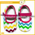 Nouveaux arrivées chaussures de bébé en gros chaussures de mode coloré chevron coloré bébé