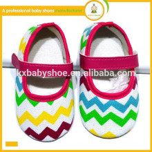New arrival wholesale baby shoes fashion lovely colorful chevron baby dress shoes
