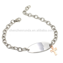 wholesale cheap rose gold charm cross sideways bracelet with chain bracelets jewelry