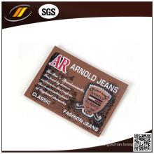 Rótulos de couro de falso genuíno com relevo com etiquetas de alta frequência personalizadas (HJL44)