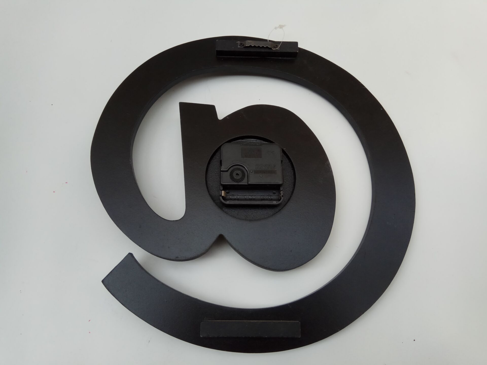 @ word black wooden clock hanging