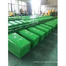 120L HDPE 3.5mm 7.3kgs im Freien beweglicher Plastik wheelie Behälterspeicher mit Rädern und Abdeckung