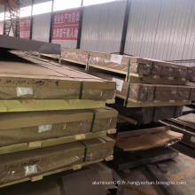 Un grand nombre de tôles d'aluminium revêtues en gros