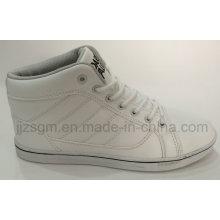 Модные белые высокие повседневные туфли