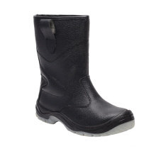 Casual Style Split Embossed Leather Safety Boots (HQ03037)