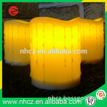 Outdoor white flameless led candles for wedding