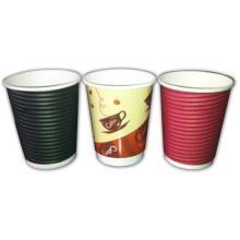 Wegwerfgewölbter kundenspezifischer Logo Design Printed Paper Cup