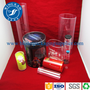 Christmas Packaging Cylinder Storage Plastic Tube