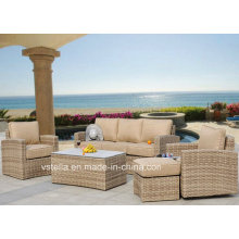 Luxxella Patio Beruni All Weather Couch Sectional Outdoor Rattan Furniture