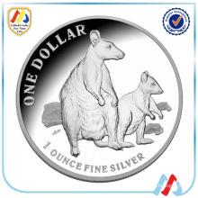 Profesional de plata vieja réplica de la moneda para la colección