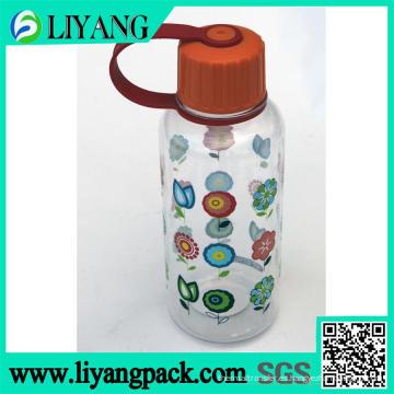 Diseño floral, película de transferencia de calor para botella de agua de plástico
